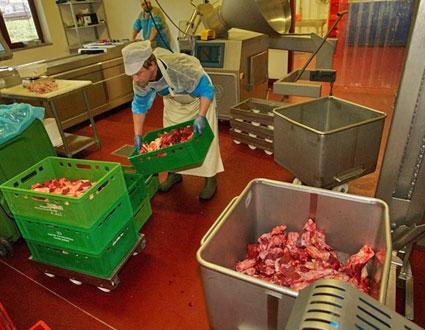 Fleischerei für Hunde - Schutzkleidung